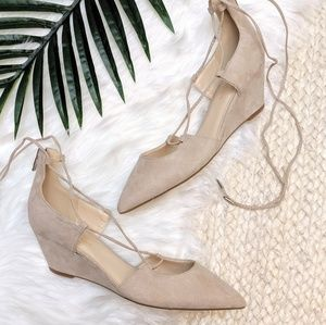 Marc Fisher Shoes - Marc Fisher Pointed Lace Up Wedge Shoes